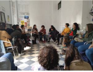 "Meeting in La Invisible (Squatted house) with ""Café Feminista"""